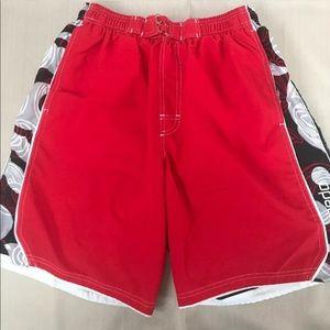 SPEEDO Men's swim trunks shorts and Floral Sz L